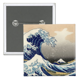 Hokusai: The great wave of Kanagawa Pinback Button