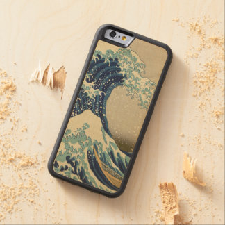 Hokusai The Great Wave off Kanagawa GalleryHD Carved® Maple iPhone 6 Bumper