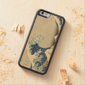 Hokusai The Great Wave off Kanagawa GalleryHD Carved Maple iPhone 6 Bumper Case