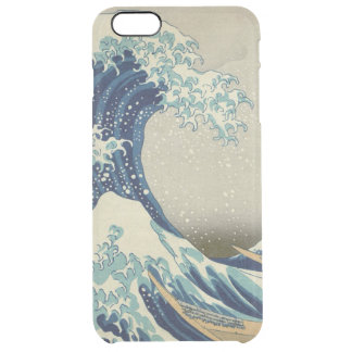 Hokusai The Great Wave off Kanagawa GalleryHD Clear iPhone 6 Plus Case