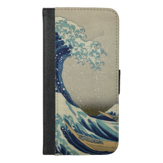 Hokusai The Great Wave off Kanagawa GalleryHD iPhone 6/6s Plus Wallet Case