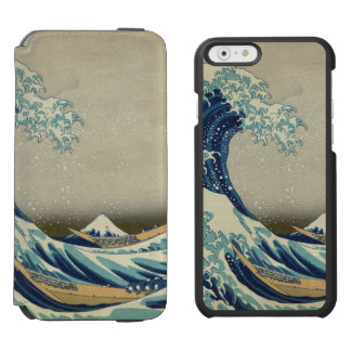Hokusai The Great Wave off Kanagawa GalleryHD iPhone 6/6s Wallet Case