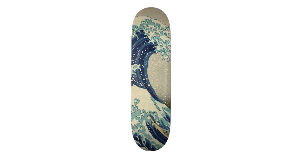 Hokusai The Great Wave Off Kanagawa Galleryhd Skateboard