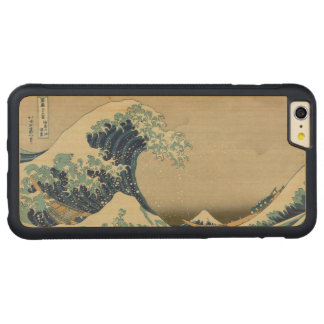Hokusai The Great Wave off Kanagawa GalleryHD Carved® Maple iPhone 6 Plus Bumper Case