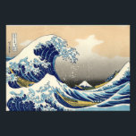 "Hokusai The Great Wave Print<br><div class=""desc"">Hokusai The Great Wave print. Japanese woodblock print from 1830-1833. One of the most famous Japanese artworks in the world, Hokusai's The Great Wave off Kanagawa is the first entry in his Thirty-six Views of Mount Fuji. The mountain itself can be seen in the background while the wave menaces wooden...</div>"