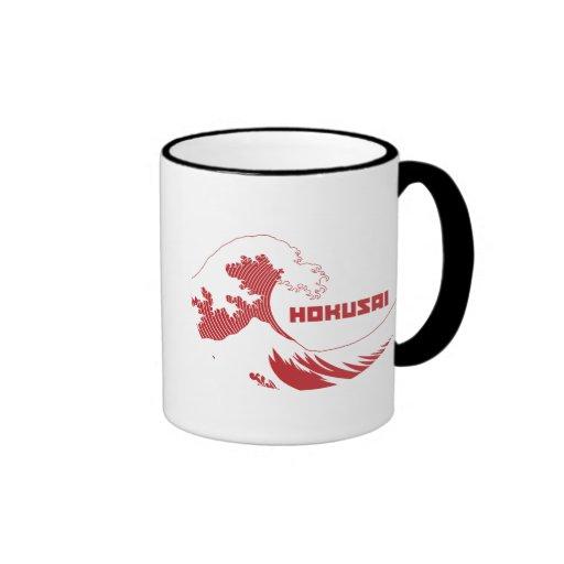 Hokusai - The Great Wave Ringer Coffee Mug