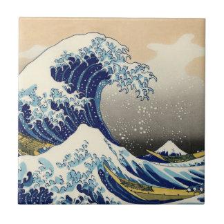 Hokusai The Great Wave Tile