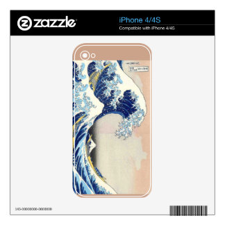 Hokusai The Wave Decals For The iPhone 4S