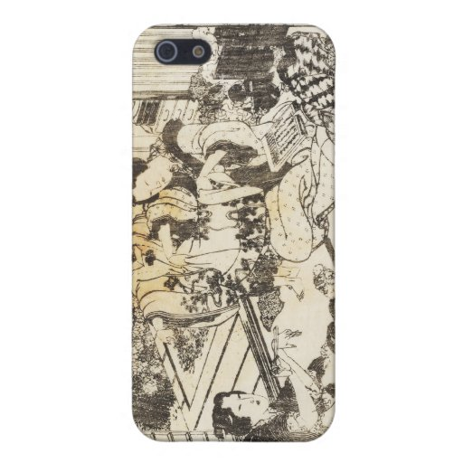 Hokusai - Three Women and Two Children Art Case For iPhone 5