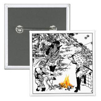 Hokusai travelers 2 inch square button