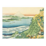 Hokusai - Travelers Climbing a Mountain Path Post Card