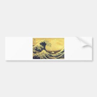 Hokusai - UKIYOE- Car Bumper Sticker