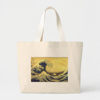 Hokusai - UKIYOE- Large Tote Bag
