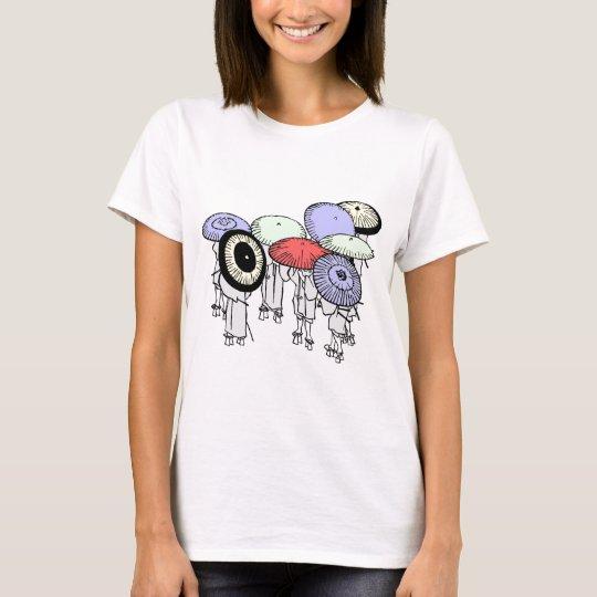 Hokusai Umbrellas T-Shirt