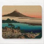 Hokusai view of Mount Fuji Mouse Pad