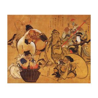 Hokusai's '7 Gods of Fortune' Canvas Print