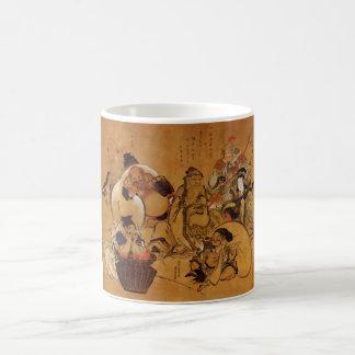 Hokusai's '7 Gods of Fortune' Mug