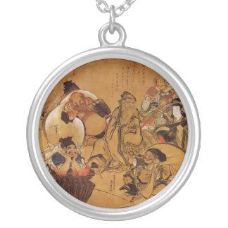 Hokusai's '7 Gods of Fortune' Necklace