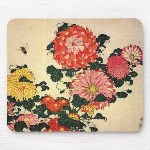 Hokusai's 'Chrysanthemum and Bee Mouse Pad