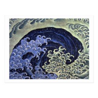 Hokusai's Feminine Wave Postcard