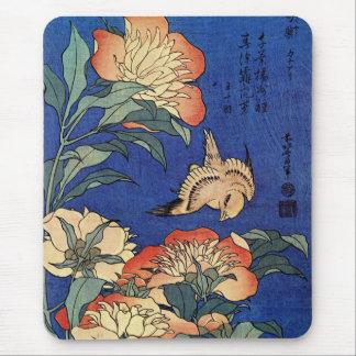 Hokusai's 'Flowers' Mousepad