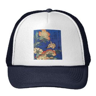 Hokusai's 'Flowers' Trucker Hat