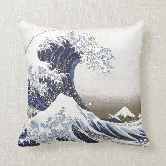 Hokusai's Great Wave Throw Pillow