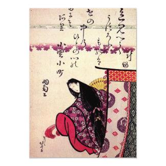 "Hokusais' 'Poetess Ononokomatschi' Invitation 5"" X 7"" Invitation Card"