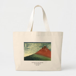 """Hokusai's South Wind, Clear Sky or """"Red Fuji"""" Tote Bags"""