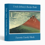 """Hokusai's South Wind, Clear Sky or """"Red Fuji"""" 3 Ring Binder"""