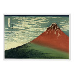 """Hokusai's South Wind, Clear Sky or """"Red Fuji"""" Posters"""
