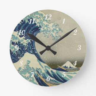 Hokusai's The Great Wave off Kanagawa Round Clock