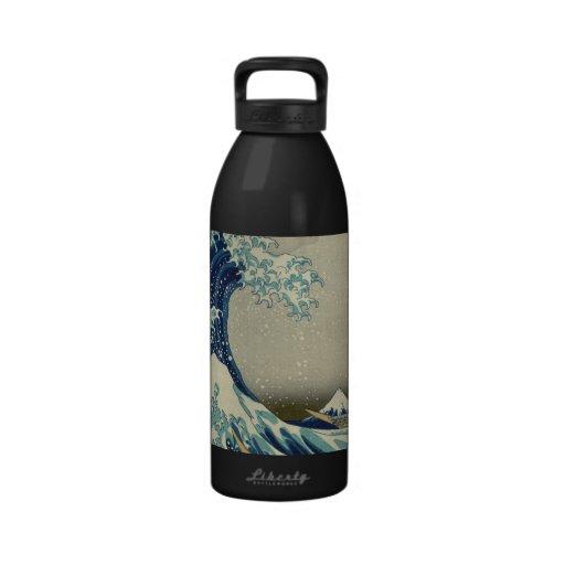 Hokusai's The Great Wave off Kanagawa Water Bottle