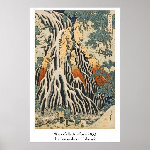 Hokusai's Waterfalls Kirifuri Poster