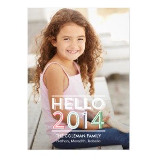 Hola 2014 tarjetas de la foto del día de fiesta anuncios