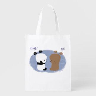 ¡Hola! 2 osos reciclan el bolso Bolsa De La Compra