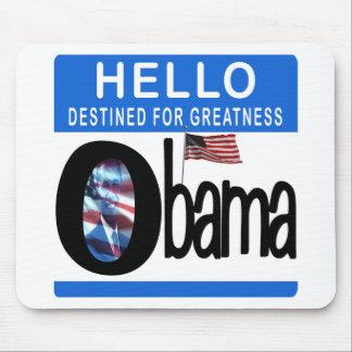 Hola 44.o presidente Barack Obama Alfombrilla De Ratones