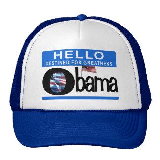 Hola 44.o presidente Barack Obama Gorro De Camionero