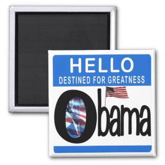 Hola 44.o presidente Barack Obama Imán Cuadrado