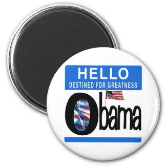 Hola 44.o presidente Barack Obama Imán Redondo 5 Cm