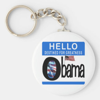 Hola 44.o presidente Barack Obama Llavero Redondo Tipo Pin