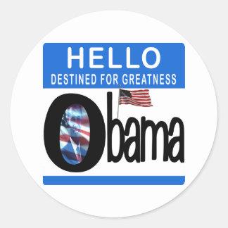 Hola 44.o presidente Barack Obama Pegatina Redonda