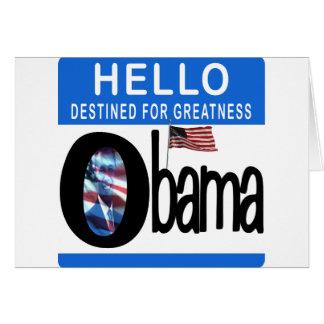 Hola 44.o presidente Barack Obama Tarjeta De Felicitación