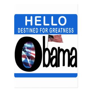 Hola 44.o presidente Barack Obama Tarjeta Postal