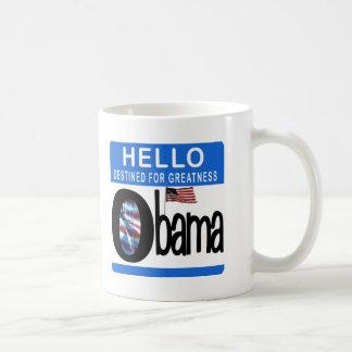 Hola 44.o presidente Barack Obama Taza Básica Blanca