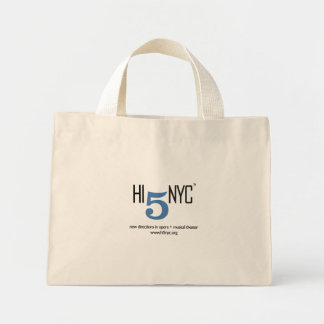 Hola 5 NYC - bolso rayado Bolsa Tela Pequeña