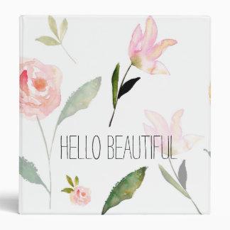 """Hola acuarela hermosa floral carpeta 1 1/2"""""""