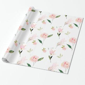 Hola acuarela hermosa floral papel de regalo