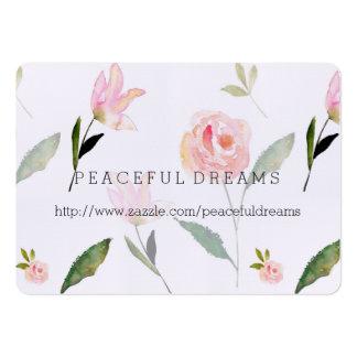 Hola acuarela hermosa floral tarjetas de visita grandes