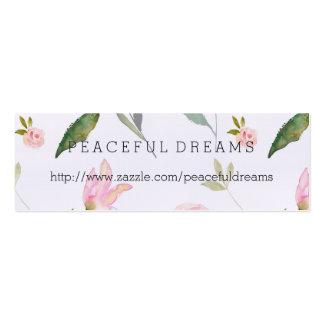 Hola acuarela hermosa floral tarjetas de visita mini